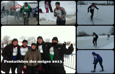 A team from VIRIDIS environnement participates in the Corporate Challenge of the 2013 Snow Pentathlon