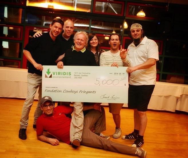 Bénéfices du tournoi de golf Viridis remis à la fondation des Cowboys Fringants