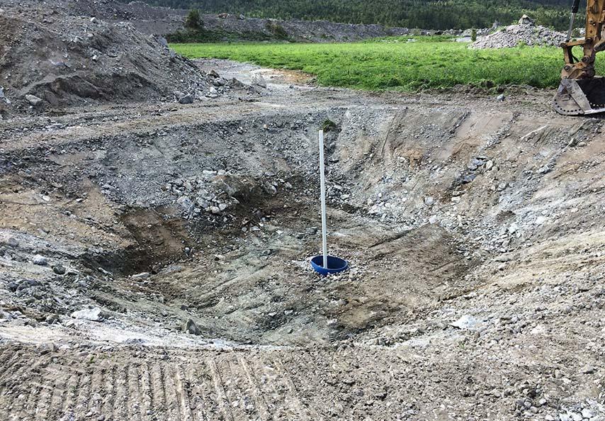 Les lysimètres mis en place par Viridis lors de projets de restauration de sites dégradés permettent le monitoring de la qualité des eaux de percolation.