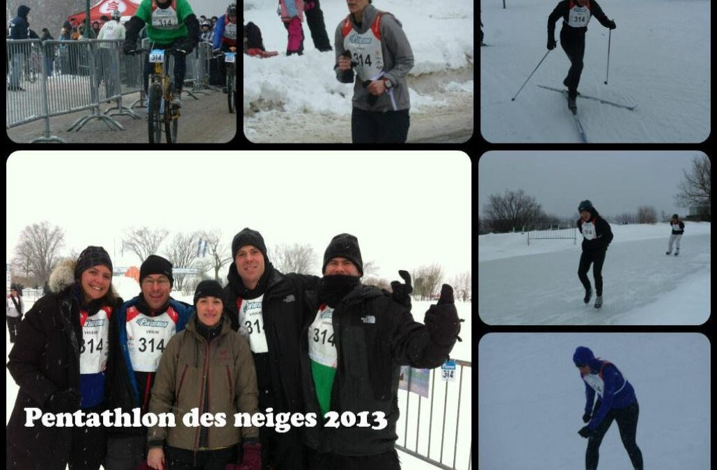 Une équipe de Viridis participe au Défi corporatif du Pentathlon des neiges 2013.