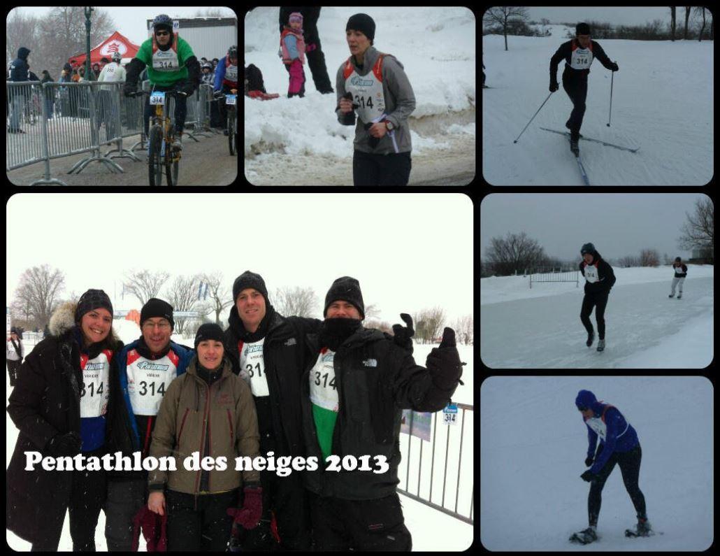 L'équipe de Viridis participe au Défi corporatif du Pentathlon des neiges 2013