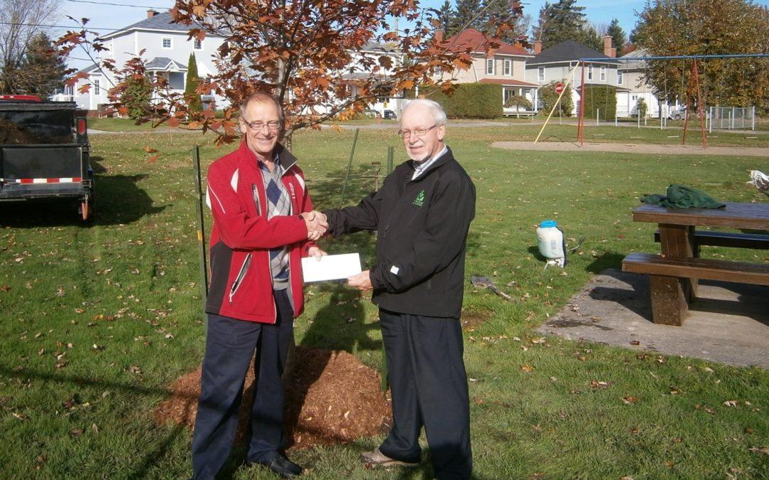 Appui financier octroyé à la ville d'East Angus pour la plantation d'arbres