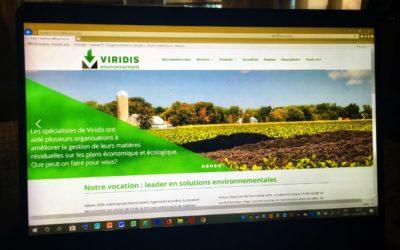 Un nouveau site Web pour VIRIDIS ENVIRONNEMENT