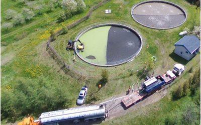 Nouveau service clé en main de pompage des étangs municipaux