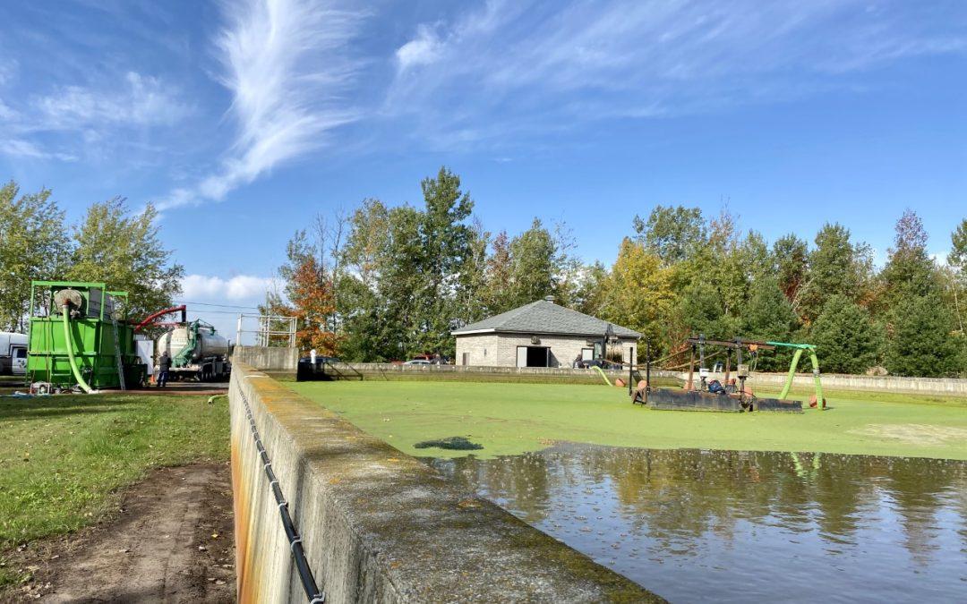 Nouveau service de vidange des étangs municipaux et de recyclage des boues